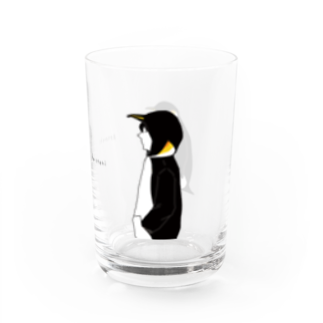 ぴーやまのコウテイペンギン Water Glass右面