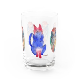 Chat et cigale Water Glass