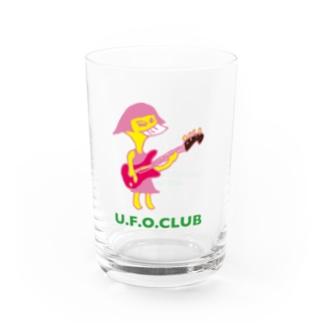 東高円寺U.F.O.CLUB webshopのU.F.O.CLUBオリジナルグラス【BASS GAL ver.】 Water Glass右面