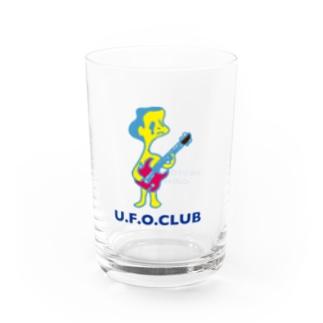 東高円寺U.F.O.CLUB webshopのU.F.O.CLUBオリジナルグラス【GUITAR MAN ver.】 Water Glass右面