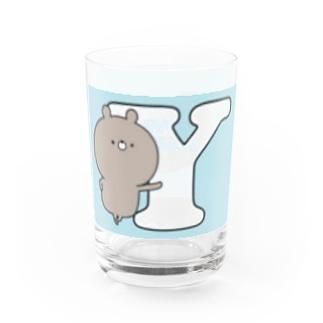 ラブカップルくま💛Y Water Glass