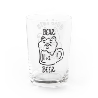I LOVE BEER Water Glass
