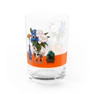 生花を見守る石・テーブル付き Water Glass