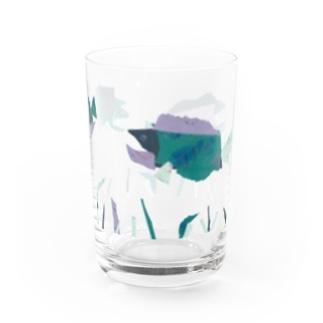 長男画伯 【さかな】 Water Glass