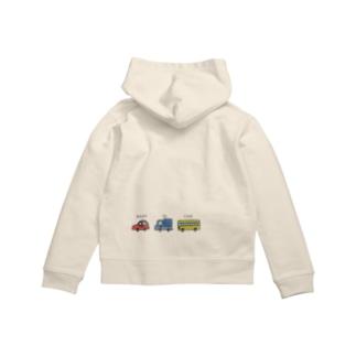 BABY IN CAR Zip Hoodies