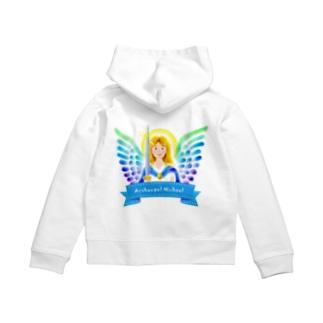 Angel channeling Art 天使のお部屋の大天使ミカエル Zip Hoodies