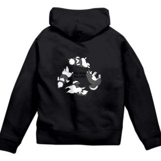 My Dog.My Life 黒柴 Zip Hoodies