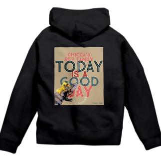 Today is a good day カカオ&シトラス Zip Hoodies
