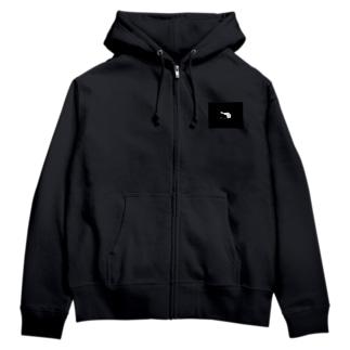 Dachshund Black Zip Hoodies