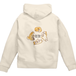 My Dog My Life Second 赤柴 Zip Hoodies