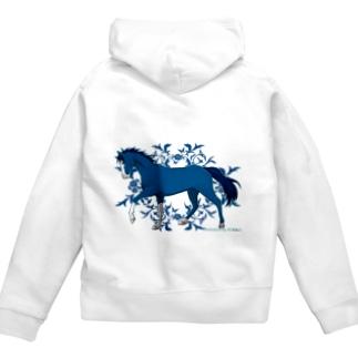 BLUE HORSE Zip Hoodies