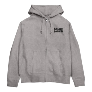 HOME ロゴ Zip Hoodies
