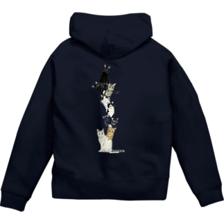 9にゃん Zip Hoodies