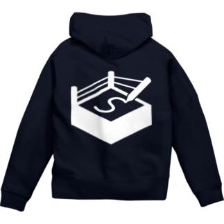 札幌オーギリングロゴ(白) Zip Hoodie
