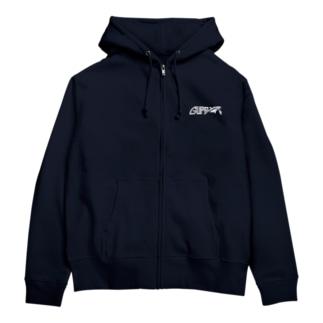 GUPPYロゴ(白) Zip Hoodies