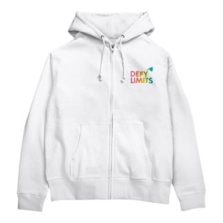 DEFY LIMITS WOMAN Rainbow Zip Hoodies