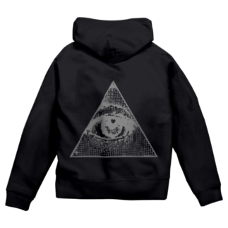 Illuminati eye triangle (gry) Zip Hoodies