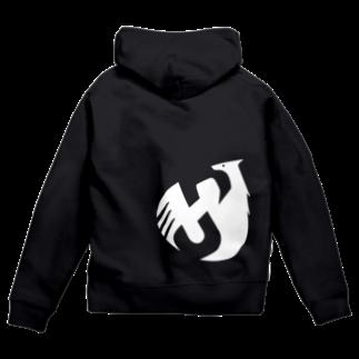 Shinsuke Sada Goods ShopのSHINSUKE SADA オフィシャルグッズ ロゴ反転色 Zip Hoodies