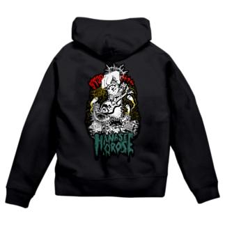 チャリティグッズ*halloween ferret Zip Hoodies