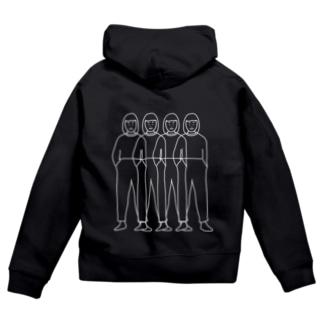 4girls (whiteline) Zip Hoodie