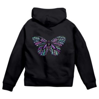 Butterfly Zip Hoodies