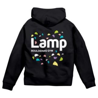 Lampちゃん白ロゴ Zip Hoodies