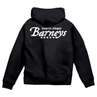 Barneys新ロゴ白 Zip Hoodie