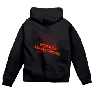 She is with pain from forever Zip Hoodies
