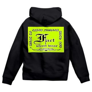 fact street wear メインロゴ1st ジップパーカー Zip Hoodie