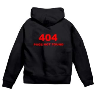 404 PAGE NOT FOUND:行方不明 Zip Hoodies