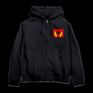 はーくゆ🐧の花丸満点(赤×黄version) Zip Hoodies
