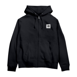QRコード Zip Hoodies