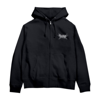 THOUGHTPARA WHITELOGO Zip Hoodies