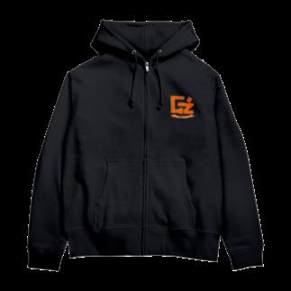 GzのG'zチャリティーパーカー(オレンジ) Zip Hoodies
