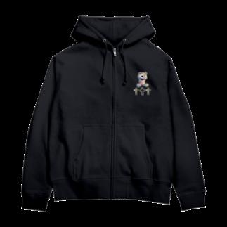 💜Salon de Lucia💜のPeek-a-boo CROSS Teddy Rainbow Zip Hoodies