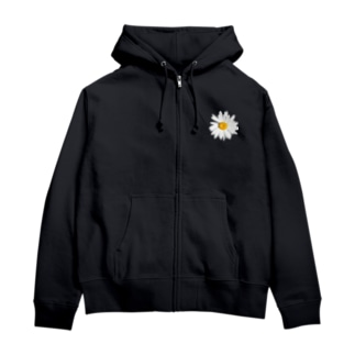 daisy flower Zip Hoodies