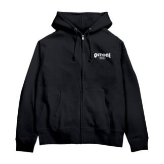 10周年ロゴ(ホワイトロゴ) Zip Hoodies