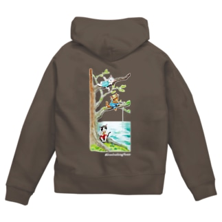 Three brothers of a cat Zip Hoodies