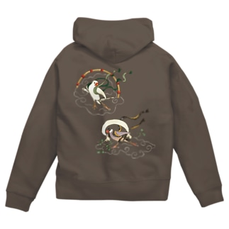 文鳥風神雷神 Zip Hoodies