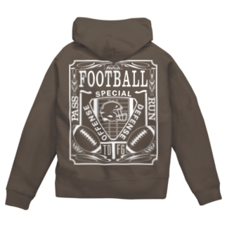 PB-FOOTBALL Zip Hoodies