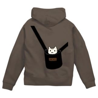 猫専用バッグ Zip Hoodies
