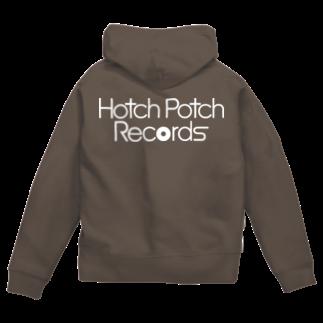 前田創作工房のHotch Potch Records(白) Zip Hoodies