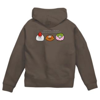SHUNKAの和菓子/モンスター Zip Hoodies