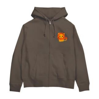 ramu-chanのライオンちゃん Zip Hoodies
