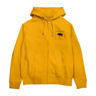 ジビエ  Natural  food系 ash black Zip Hoodies