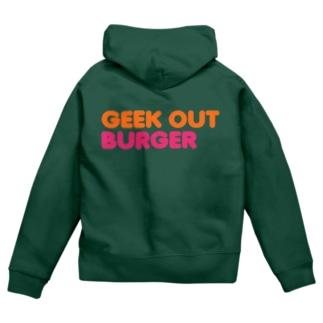GEEK OUT BURGER zip hoodie Zip Hoodies