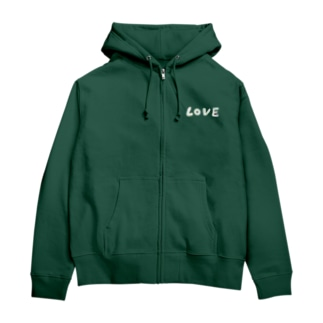 LOVE Zip Hoodies