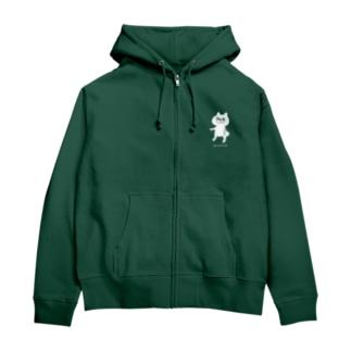 greenish という名前 Zip Hoodies