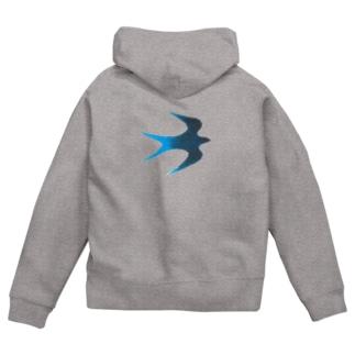 青い鳥 Zip Hoodies