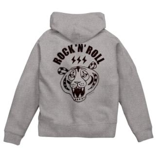 ROCK 'N' ROLL TIGER タイガー/トラ/虎 Zip Hoodies